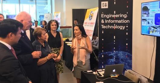 Photo of UTS academics presenting to the Governor General of Australia