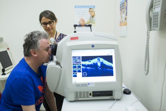 GSH Orthoptist with Patient
