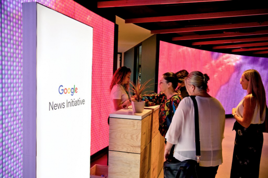 Academics at the Google News event
