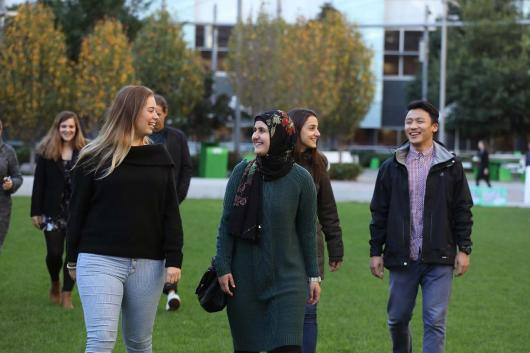 UTS students on the green