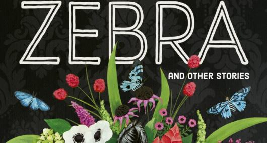 An illustration of flowers with the text 'Zebra'