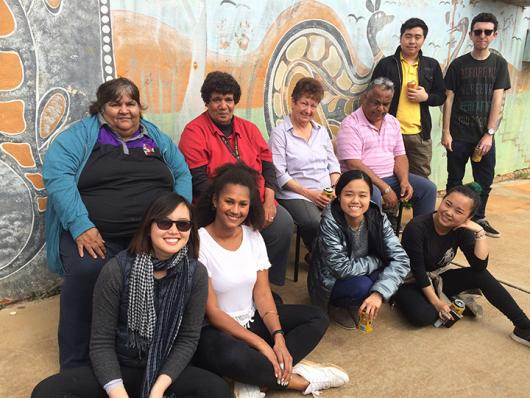 Leyla-Elisa zu Stolberg (bottom, centre left) with UTS students and community elders from Murrin Bridge