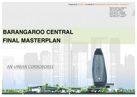 DAB Student Project: Masterplanning for the Sydney Region, by Gabriela Quintana Vigiola