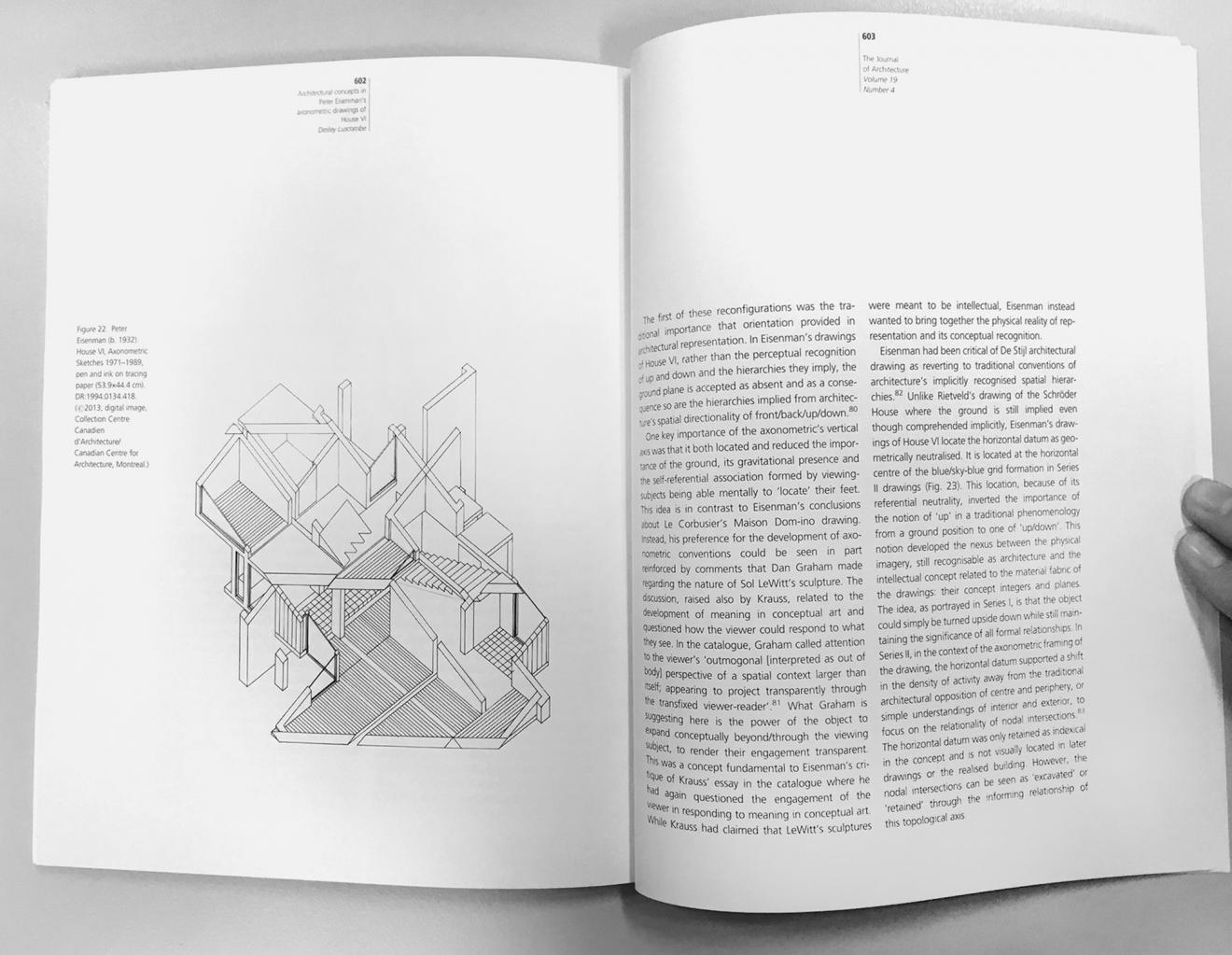 Architectural concepts in peter eisenman s axonometric drawings of