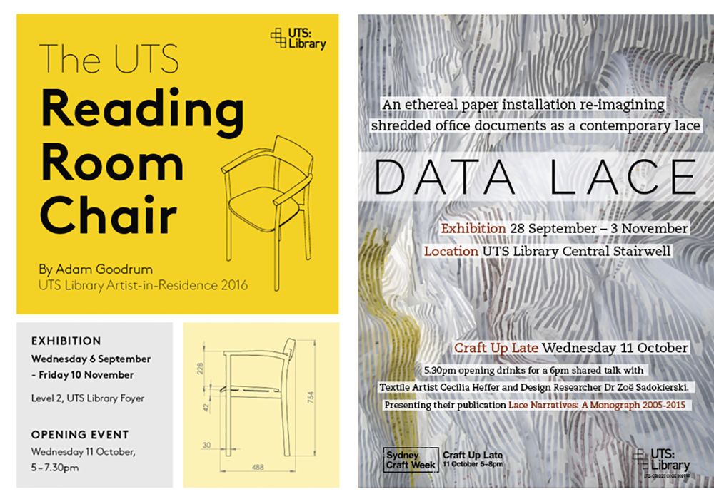 The UTS Reading Room Chair, Data Lace, Staff collection