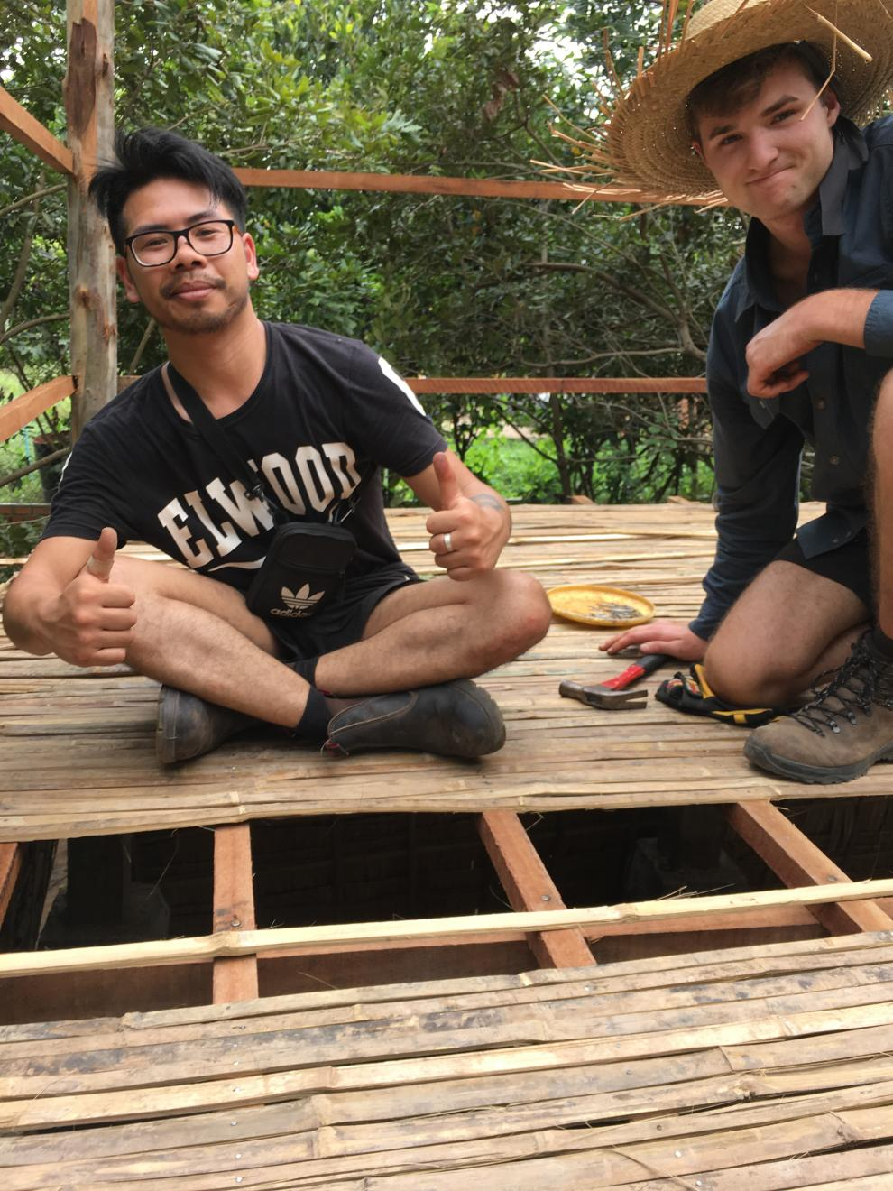 DAB Student project, Building houses for underprivileged families in Cambodia