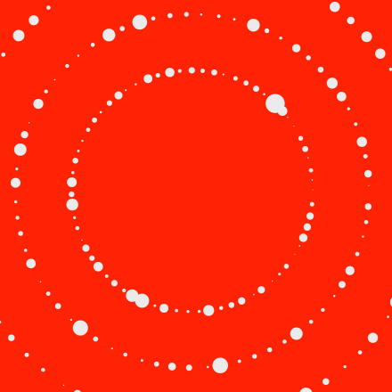 section tile red dots circle