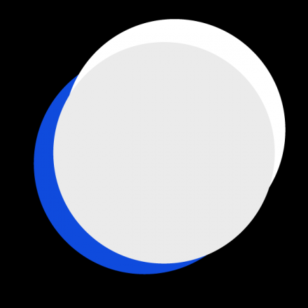 black background, blue and grey circles
