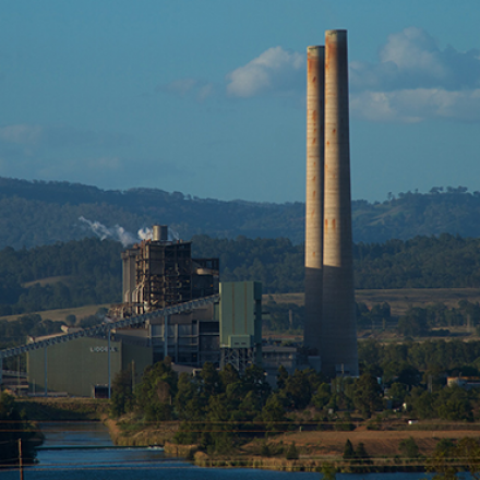 An image of Liddell Coal Power Station.