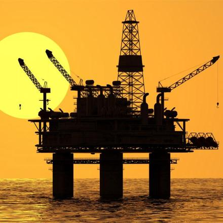 stock picture of an offshore oil/gas platform