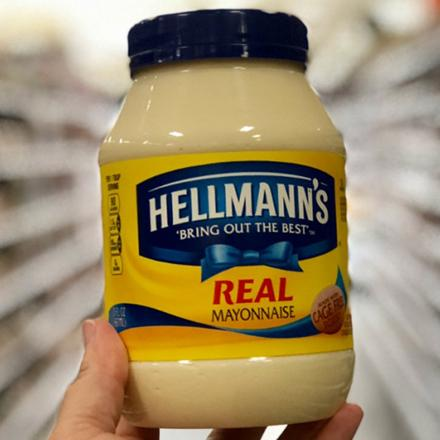 Jar of Hellman's mayonaise