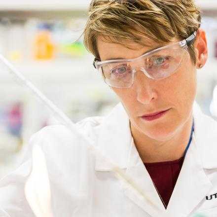 UTS researcher Willa Huston at work in a laboratory