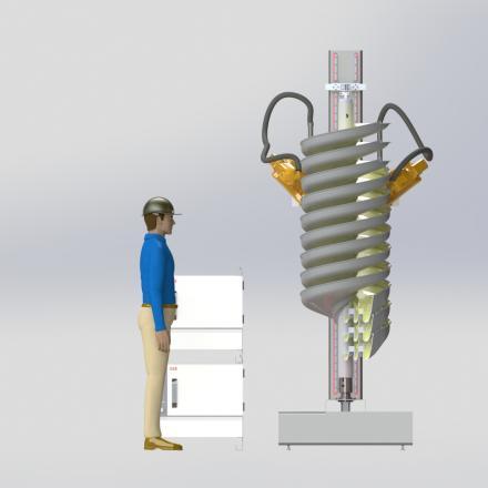 Plan for a 3m high mining spiral