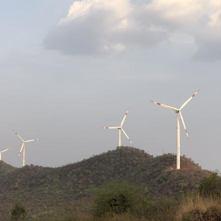 Kerala India windfarm