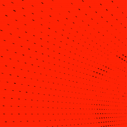 Pattern of black dots on a red background