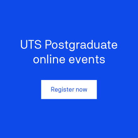 UTS postgraduate online events register now