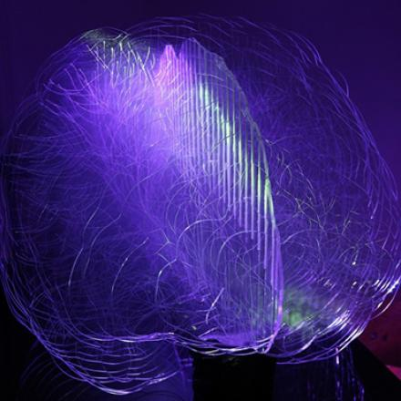 Interactive Brain Light, by UTS Master of Design graduate Laura Jade Hindes, uses complex data visualisation to provide a real-time display of brain activity