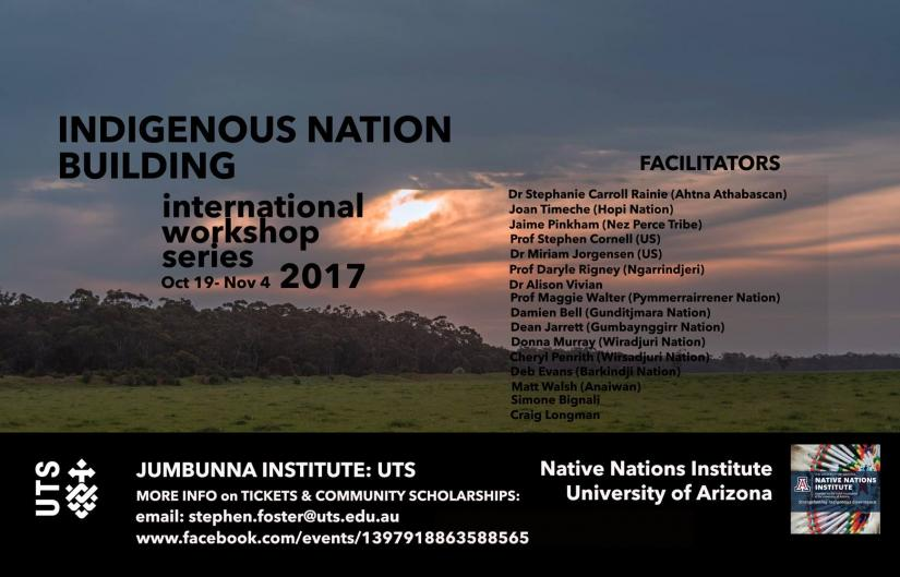 Indigenous Nation Building Workshop 2017
