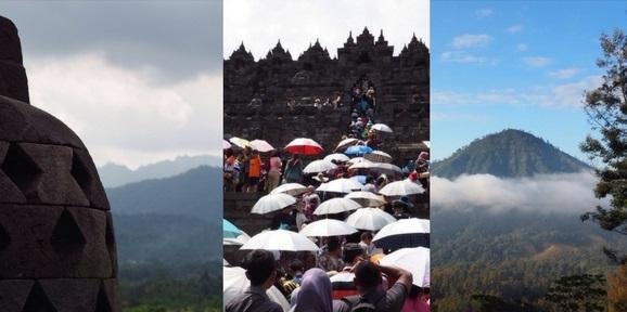 Collage of 3 photos of Indonesia