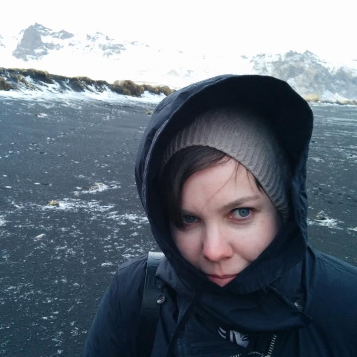 Ashleigh on a snow covered mountain