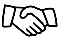 Illustration of people shaking hands