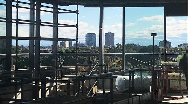 Moore Park facility under construction