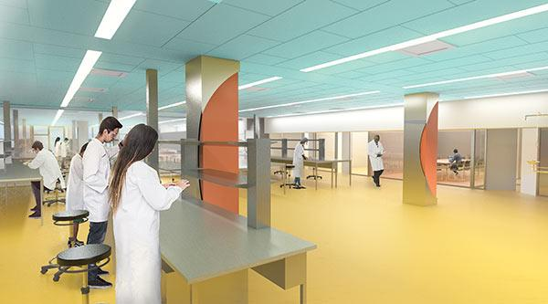 Artist's impression of Building 4 extension research lab