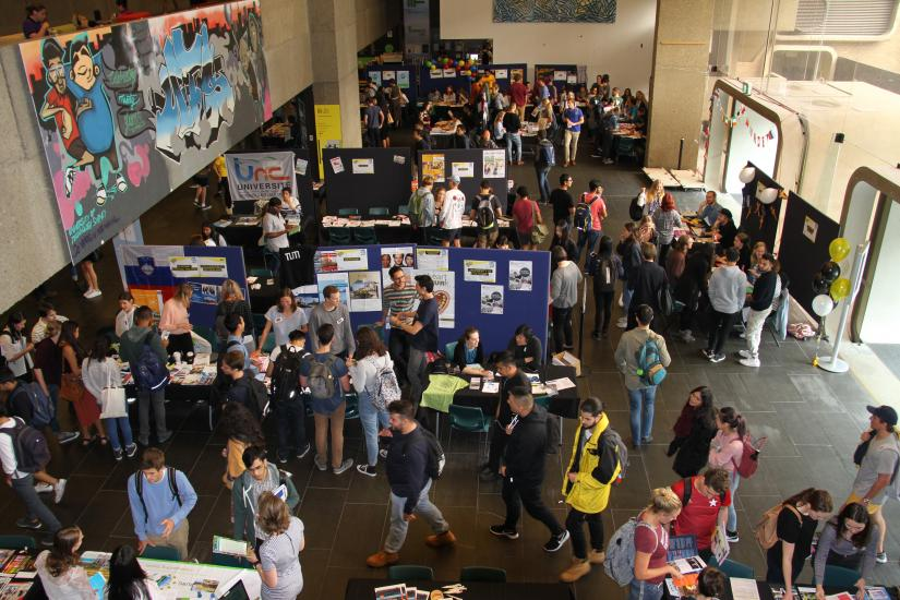 Birdseye view of the 2017 UTS Global Exchange Fair