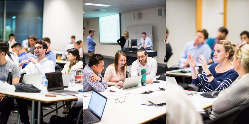 three images of uts students in class