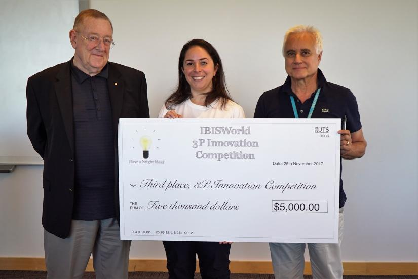 IBISWorld founder Phil Ruthven, Kindershare founder Vanouhi Nazarian, and Professor Zoltan Matolcsy.
