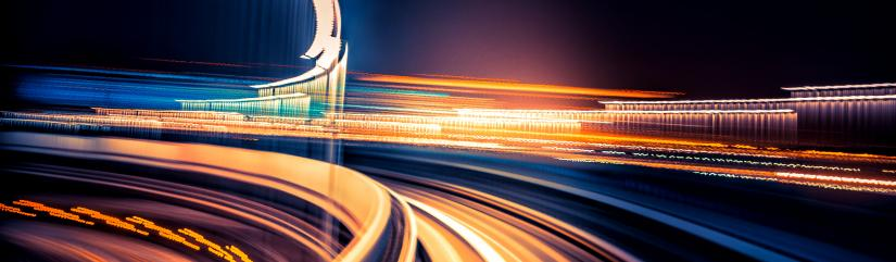 abstract image, motion blurred view from a moving train. Image: iStock