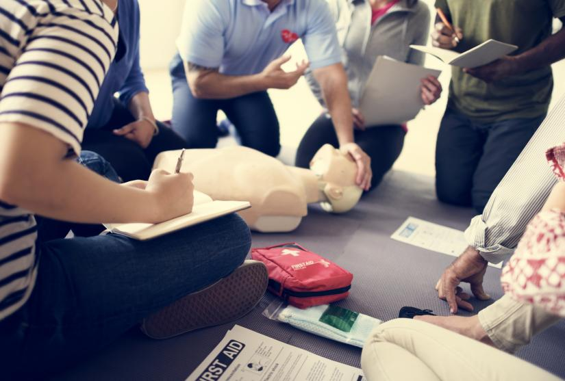 Image of people conducting CPR for Professional Skills Week