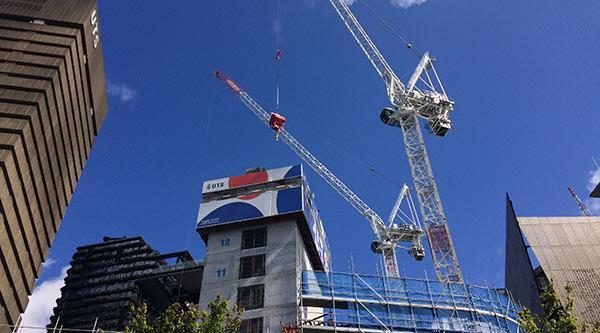 Building 2 cranes