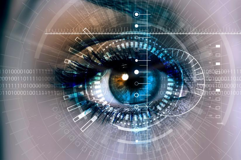 Image of Eye being scanned