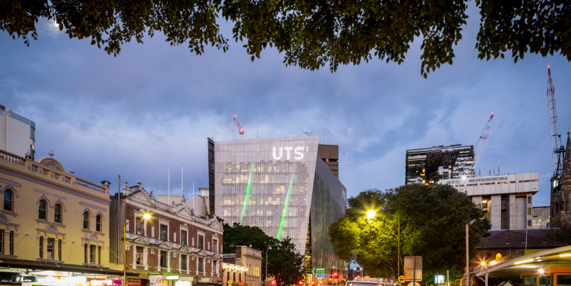 UTS Building 11 acting as the southern gateway to the CBD