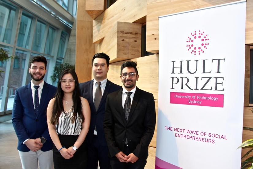 UTS Hult Prize representatives