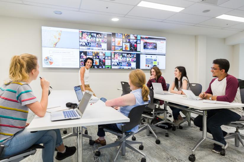 Students in a Journalism classroom
