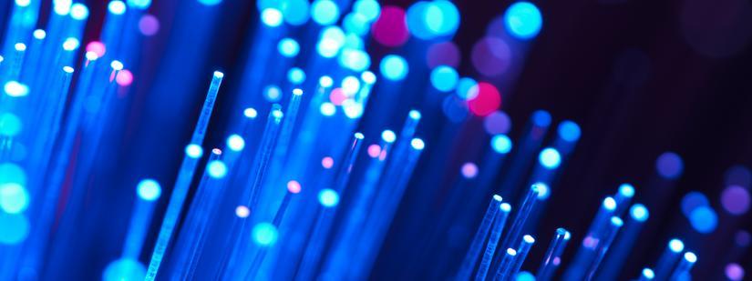 close up image of fibre optics. iStock
