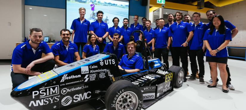 UTS Motorsports team and their car Amber: