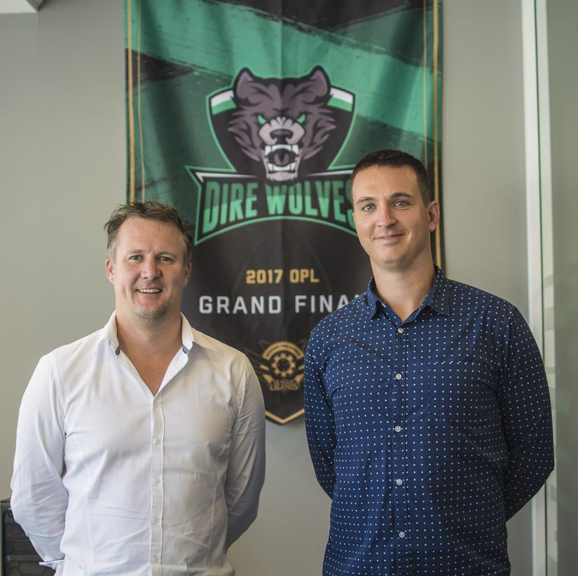 Dave Harris and Job Fransen at Esports Centre