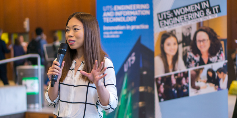 A women speaks about the UTS Women in Engineering and IT Program
