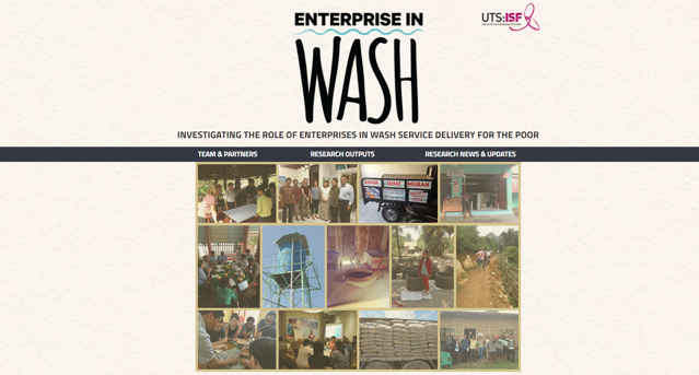 Enterprise in WASH banner
