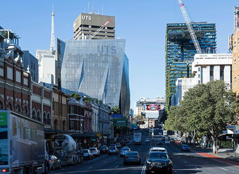 UTS campus and Central Park from Broadway