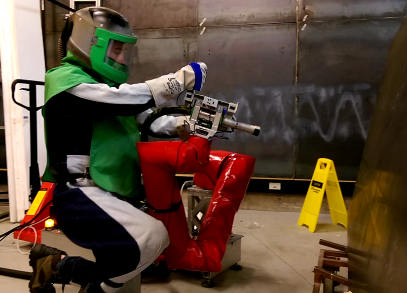 Blasting Robot
