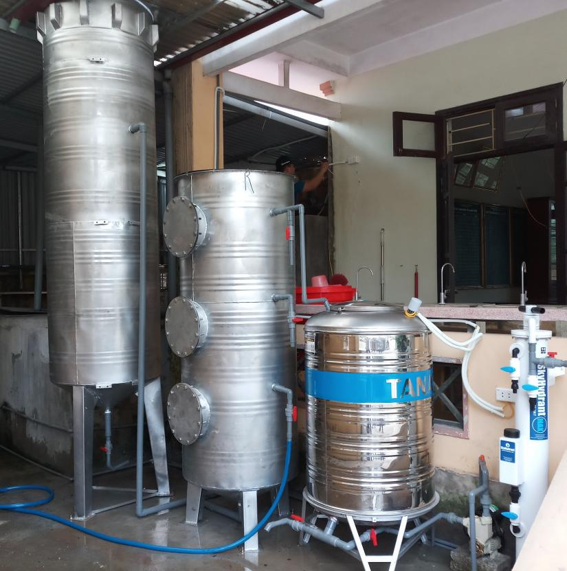 New filtration system for Hoang Tay kindergarten