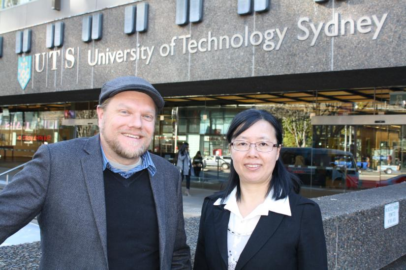 Professor Kang Juan Lyu from Shanghai University, and Dr Scott Kelly from UTS's Institute for Sustainable Futures