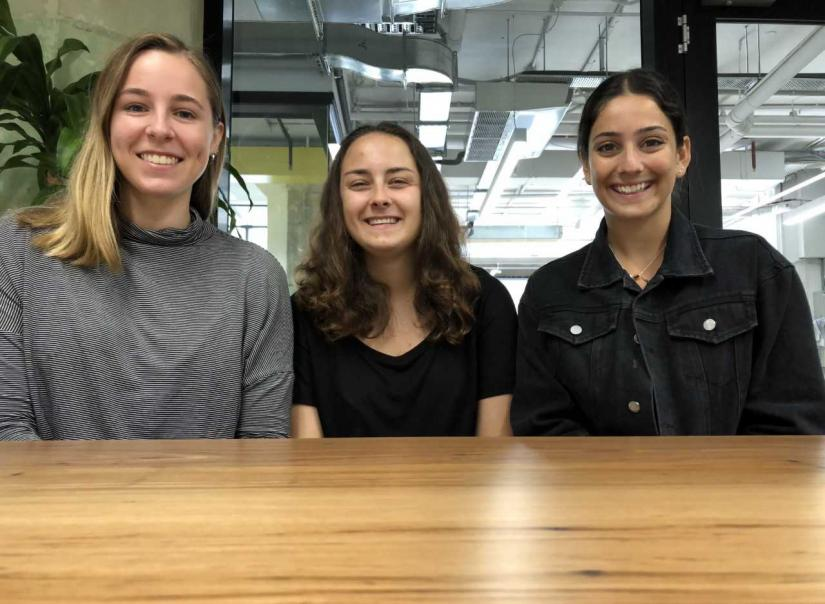 Lucy Allen, Polina Pashkov, and Eliza Marks; Co-Founders of Stitch Hub