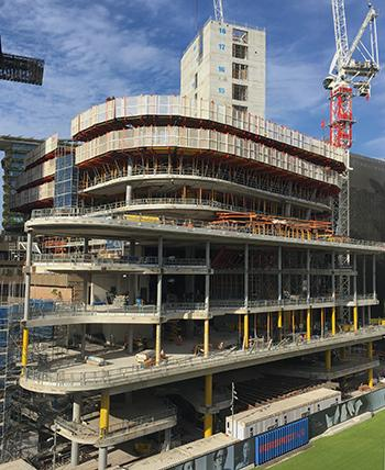 UTS Central under construction April 2018