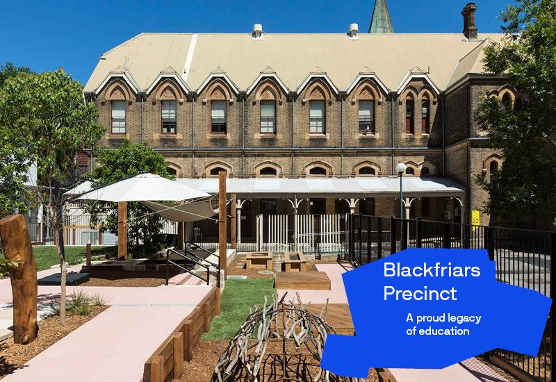 Blackfriars precinct graphic