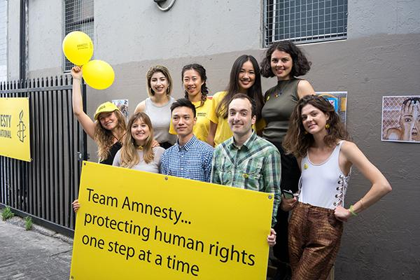 SOULies volunteering with Amnesty International.